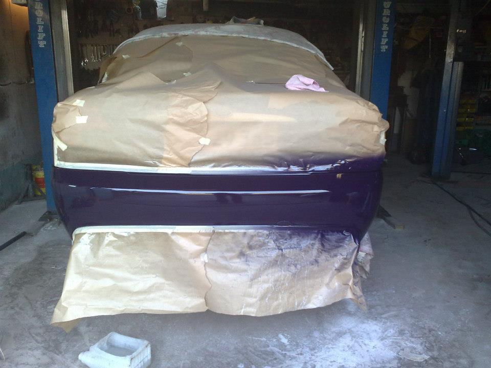 Ford Mondeo - Lakering efter opretning af skaden